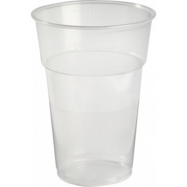 Duni Vienkartinės stiklinės  karštiems/šaltiems gėrimams 500 (400) ml, skaidrios, PP, max +100°C, 40 vnt.
