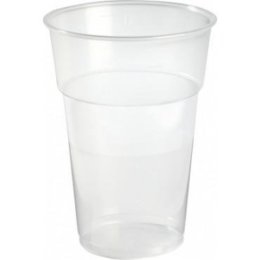 Duni Vienkartinės stiklinės  karštiems/šaltiems gėrimams 630 (500) ml, skaidrios, PP, max +100°C, 50 vnt.