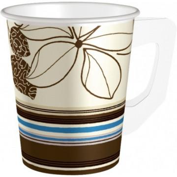 Duni Vienkartiniai puodeliai kavai, su rankena (Dangtelio kodas: 163601) 200 ml, PAP/PE, max +100°C, 80 vnt.