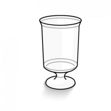 Vienkartinės taurės vynui skaidrios spalvos, 160 ml,12 vnt.