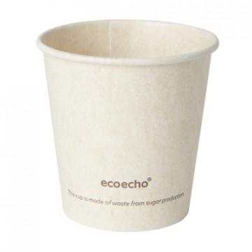 Duni vienkartiniai Ecoecho™ puodeliai kavai 120 ml, natūralios spalvos, Bagasse, max +100°C, 50 vnt.