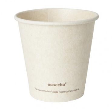 Duni vienkartiniai Ecoecho™ puodeliai kavai (tinkamas 182535), Bagasse, natūralios spalvos, 180 ml, max +100°C, 50 vnt.