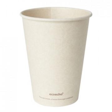 Duni vienkartiniai Ecoecho™ puodeliai kavai (tinkamas 182536) 350 ml, natūralios spalvos, Bagasse, max +100°C, 50 vnt.