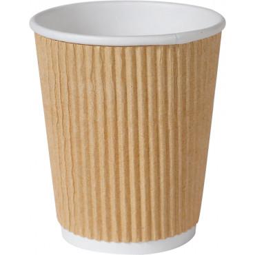Duni Vienkartiniai Ecoecho puodeliai kavai triguba sienelė (tinkamas 182535) PAP/PBS, rudos spalvos, 240 ml; max +100°C, 25 vnt.