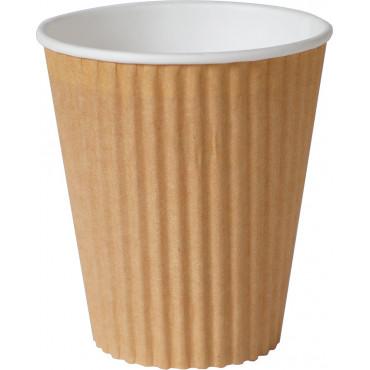 Duni Vienkartiniai Ecoecho puodeliai kavai triguba sienelė (tinkamas 182536) PAP/PBS, rudos spalvos, 350 ml; max +100°C, 30 vnt.
