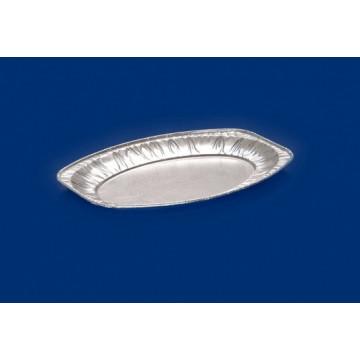 Vienkartinės lėkštės, ovalios, aliumininės, 33,3x23,3 cm, 10 vnt.