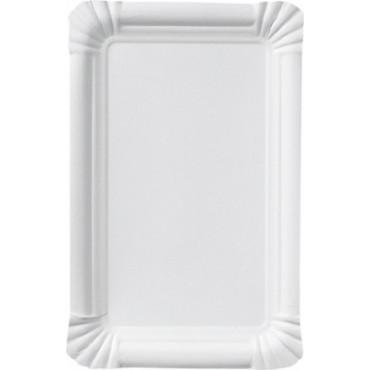 Duni Vienkartinės lėkštės dešrelėms, baltos,  stačiakampės, popierinės,13x20 cm, max +80°C, 250 vnt.