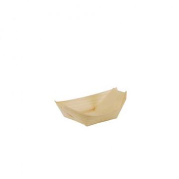 Vienkartiniai serviravimo indeliai, mediniai, laivelio formos, 8x5,5x1,5 cm, 100 vnt.