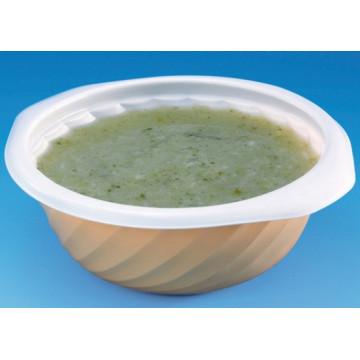 Vienkartiniai dubenėliai sriubai, skersmuo 13,1 cm (dangtelio kodas COVB350), PP, balti, 350 ml, 100vnt