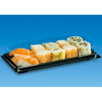 Vienkartiniai sushi indeliai su dangteliais 13,6x10,2 cm, 50vnt