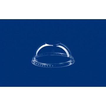 Vienkartiniai dangteliai stiklinėms (5695504001/825541), be skylutės, gaubti, APET, skaidrūs,  skersmuo 9,5 cm, max -40°C/ +60°C  50 vnt..
