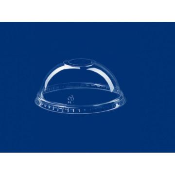 Vienkartiniai dangteliai stiklinėms (5695504001/825541), su skylute,  gaubti, APET,  skaidrūs, skersmuo 9,5 cm, max -40°C/+60°C, 50 vnt.