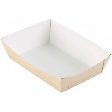 Duni Vienkartinės kartoninės dėžutės Viking ® Box talpa 1100 ml, rudos spalvos, kartonas/PE, 20x14x4,8 cm, max +100°C, 125 vnt.