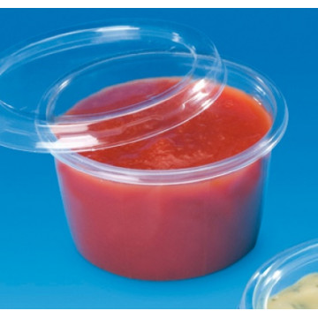 Vienkartiniai indeliai padažui, 80 ml (P7100C), PP, skaidrūs, skersmuo 7 cm, max -20/+120°C, 100vnt.