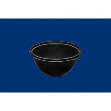 Vienkartiniai dubenėliai salotoms (tinkamas SAL15CV25C, SAL15CV8C), APET, juodi, ø15 cm, 600 ml, 50 vnt.