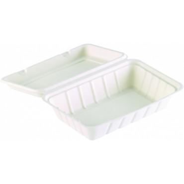 Duni Vienkartinės Ecoecho™  cukranendrių dėžutės maisto išsinešimui, vieno skyriaus, 850 ml, Bagasse, 23,9x15,6x6,3 cm, max +100°C, 60 vnt