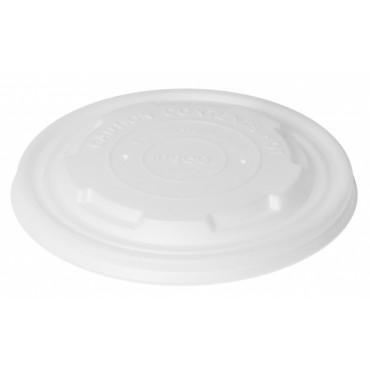 Duni Vienkartiniai Ecoecho™ dangteliai sriubos dubenėliams, (tinkamas 170734/170735), balti, CPLA,12x12x1 cm, max +100°C, 50 vnt.