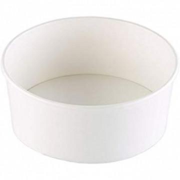 Duni Vienkartiniai dubenėliai salotoms (tinka 168004), balti, Cardboard/PE, 775 ml,15x15x6 cm, max +40°C, 58 vnt.