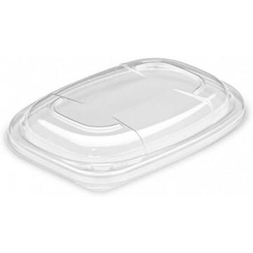 Vienkartiniai dangteliai indeliams maisto išsinešimui (tinkamas COOK600N) skaidrūs, OPS, 14x19x2 cm, 20 vnt.