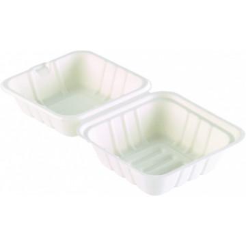 Duni Vienkartinės Ecoecho™ cukranendrių dėžutės maisto išsinešimui, stačiakampės, vieno skyriaus, 475 ml, Bagasse, 16,2x15,2x8 cm, max +100°C, 50 vnt.