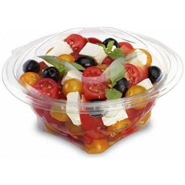 Vienkartiniai indeliai salotoms su dangteliu, APET, skaidrūs, 500 ml, 50 vnt..