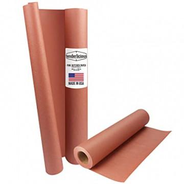 Nebalintas kraft popierius mėsai supakuoti Pink Butcher paper 60cmX30m