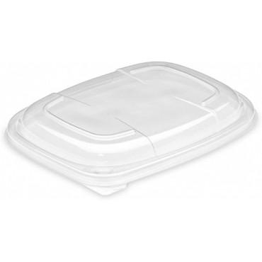 Vienkartiniai dangteliai indeliams maisto išsinešimuii (tinkamas COOK1000N), skaidrūs, PP, 17x21,5x2 cm, 20vnt.