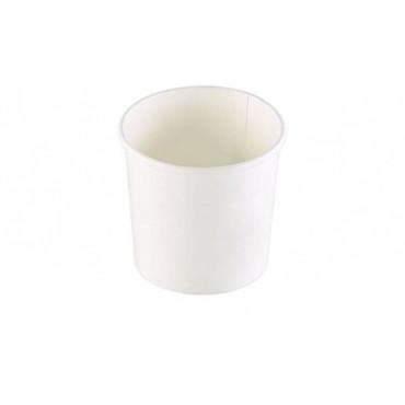 Duni Vienkartiniai dubenėliai sriubai,balti (tinkamas 168010), 355ml Cardboard/PP, 9,1x9,1x8,5 cm, max +120°C, tinkami šildyti mikrobangų krosnelėje, 25 vnt.