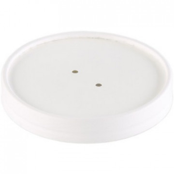 Duni Vienkartiniai dangteliai sriubos dubenėliams, (tinkamas 168006), balti Cardboard/PE, 9x9x1,7 cm, max +70°C, 18 vnt.
