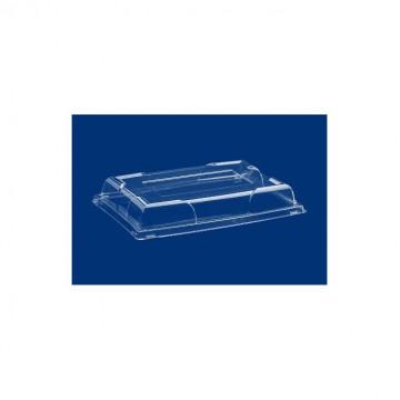 Vienkartiniai dangteliai stačiakampiams padėklams (PLC450OR/AR/N) skaidrūs, RPET, max -40°C/+60C°, 46x31x7cm, 5vnt.