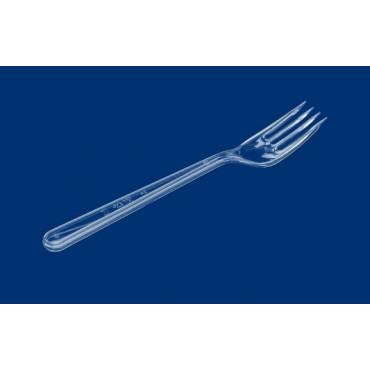 Vienkartinės šakutės, PS, skaidrios 18 cm, 50vnt