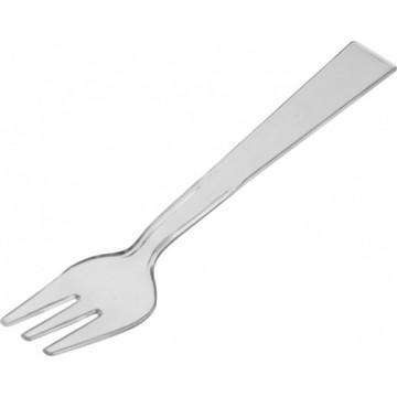 Duni Vienkartinės degustacinės mini šakutės Amuse-bouche skaidrios, PS, 9,6x1,8x0,4, max +100°C, 250 vnt.