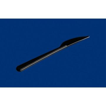 Vienkartiniai peiliai, PS,  juodos spalvos, 18 cm, 50vnt