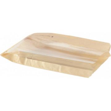 Duni Vienkartiniai popieriniai maišeliai riestainiams, beigeliams, keksams rudos spalvos, kartonas/PLA, 28x15x5,5 cm, max +40°C, 1000 vnt.