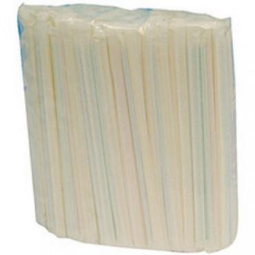 Šiaudeliai 21x0,5cm, spalvotai dryžuoti, lankstūs, 500vnt