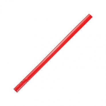 Šiaudeliai 25x0,8cm, stori, raudoni, 135vnt