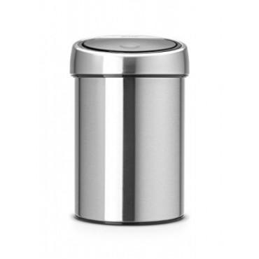 Šiukšlių dėžė Brabantia Touch Bin, matinio metalo, 3l