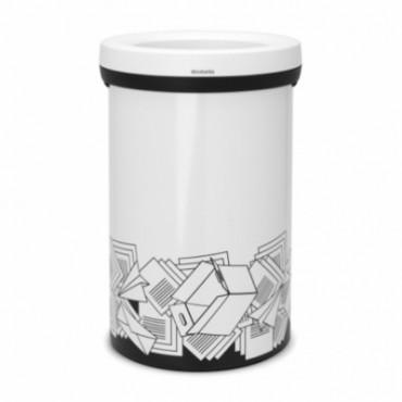 Šiukšlių dėžė popieriaus atliekų rūšiavimui Open Top, balta, 60l