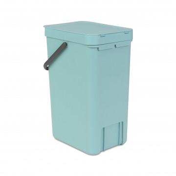 Šiukšlių dėžė Brabantia Sort&Go, mėtinės spalvos, 16 l