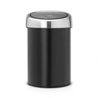 Šiukšlių dėžė Brabantia Touch Bin, juodo matinio metalo, 3l
