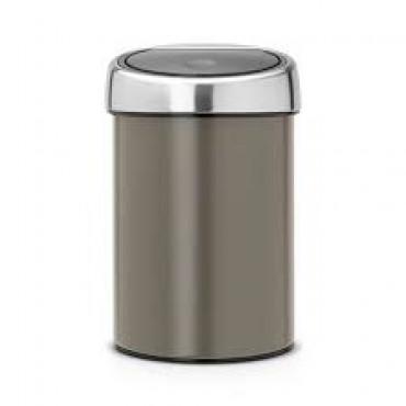Šiukšlių dėžė Brabantia Touch Bin, platinos spalvos 3l