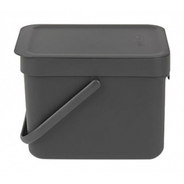 Šiukšlių dėžė Brabantia Sort&Go, pilka, 6l