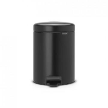 Šiukšlių dėžė atidaroma koja Brabantia NewIcon, juodo matinio metalo, 5l