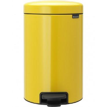 Šiukšlių dėžė atidaroma koja Brabantia NewIcon, geltona, 12l
