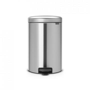 Šiukšlių dėžė atidaroma koja Brabantia NewIcon, matinio metalo, 20l