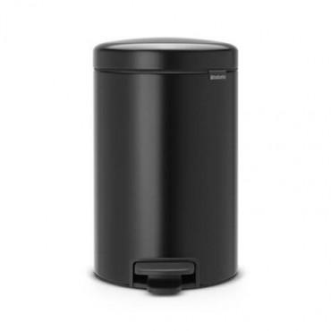Šiukšlių dėžė atidaroma koja Brabantia NewIcon, juodo matinio metalo, 12l