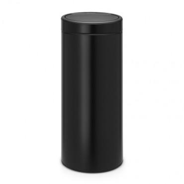 2*Šiukšlių dėžė Brabantia Touch Bin, juodo matinio metalo, 30l