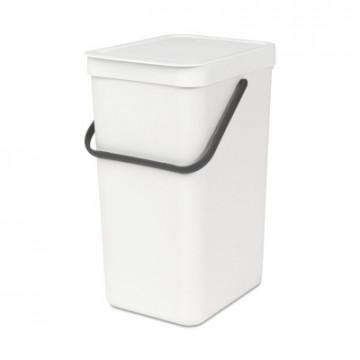 Šiukšlių dėžė Brabantia Sort&Go, balta, 16 l