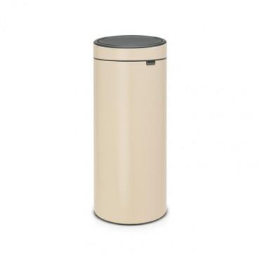 Šiukšlių dėžė Brabantia Touch Bin, migdolų spalvos, 30l