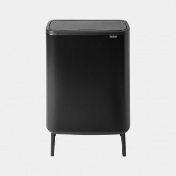 Šiukšlių dėžė Brabantia Bo Touch Bin Hi, juodo matinio metalo, 2x30l